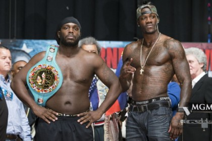 Bermane Stiverne and Deontay Wilder