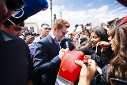 Canelo with fans