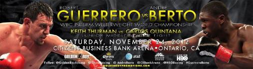 Guerrero Berto Guerrero vs. Berto  robert guerrero andre berto