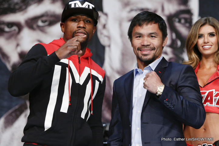 Floyd Mayweather Jr and Manny Pacquiao