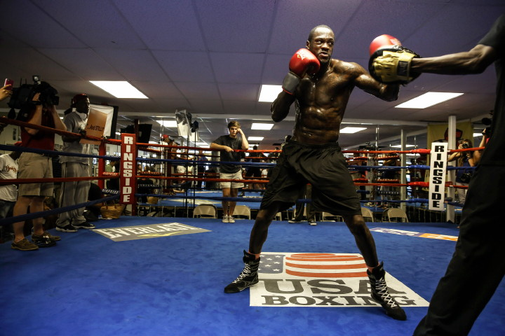 DEONTAY WILDER-MEDIA WORKOUT-9831