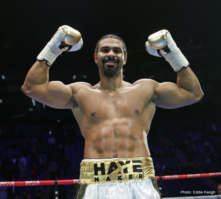 when is david haye fighting