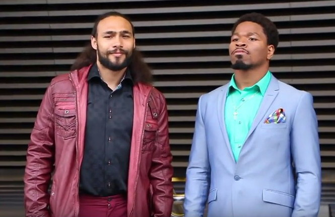 Keith Thurman confronts Porter about alleged sparring session