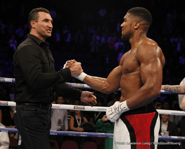 Klitschko on Joshua: I Felt This Man Is Following In My Footsteps