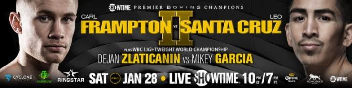 - Latest Carl Frampton Leo Santa Cruz Frampton vs. Santa Cruz