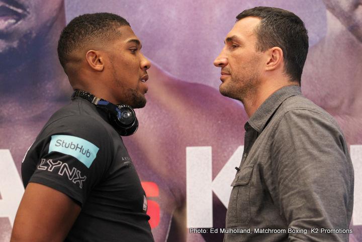 Anthony Joshua Wladimir Klitschko Joshua vs. Klitschko