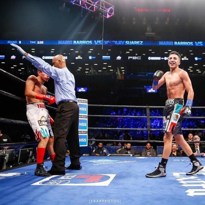 Mario Barrios Defeats Yardley Suarez » Boxing News