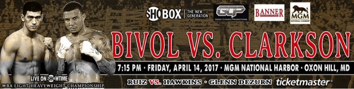 Image result for Samuel Clarkson vs Dmitry Bivol live pic logo