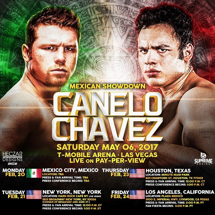 Image result for Canelo vs Chavez Jr Live pic
