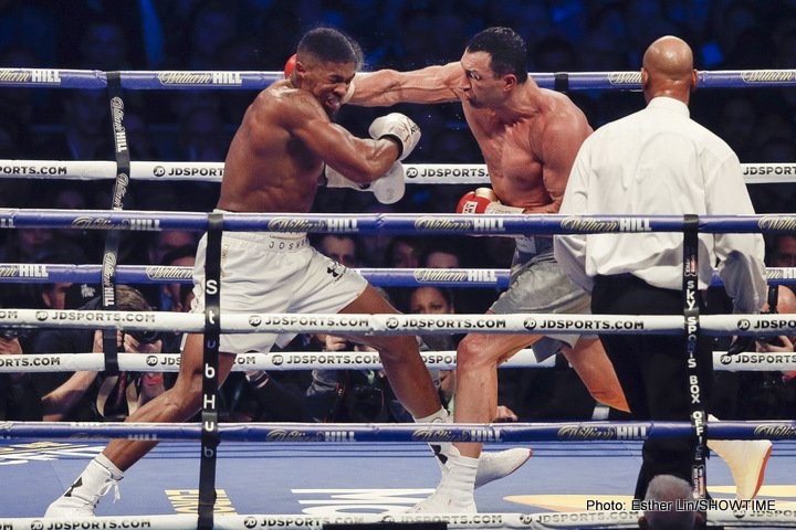 Victorious Anthony Joshua willing to face Wladimir Klitschko in a rematch