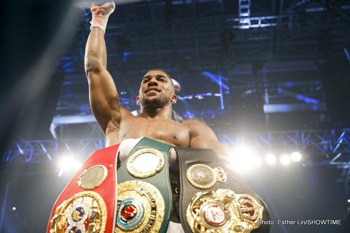 "Anthony Joshua Eddie Hearn Jarrell ""Big Baby"" Miller Joshua vs. Miller Matchroom Boxing"