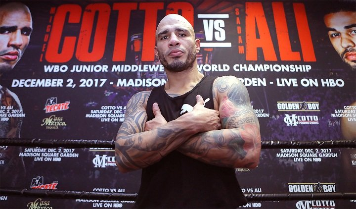 Latest Cotto vs. Ali Sadam Ali