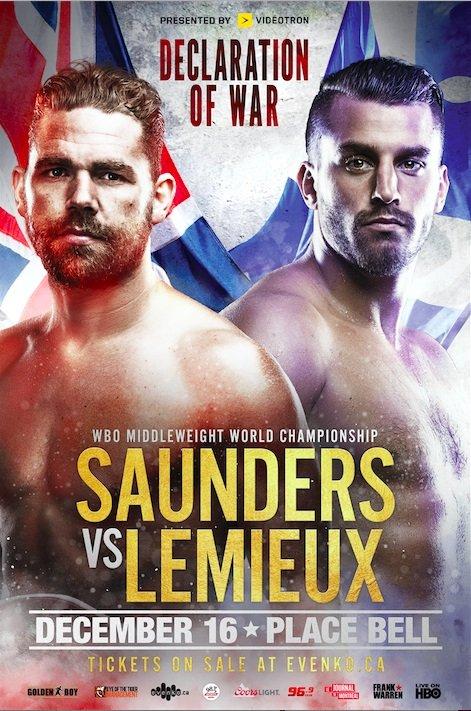 Billy Joe Saunders David Lemieux Saunders vs. Lemieux