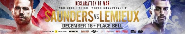 Billy Joe Saunders David Lemieux Saunders vs. Lemieux