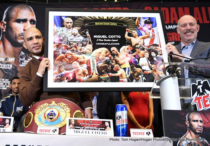 - Latest Miguel Cotto Cotto vs. Ali Sadam Ali