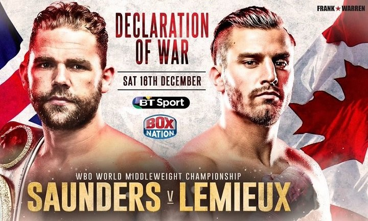- Latest Billy Joe Saunders David Lemieux