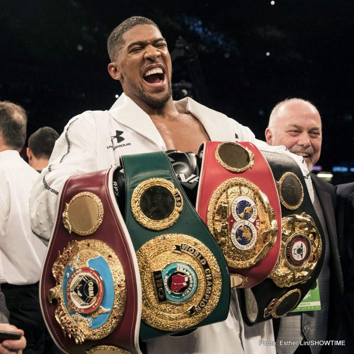 Anthony Joshua Deontay Wilder Tony Bellew
