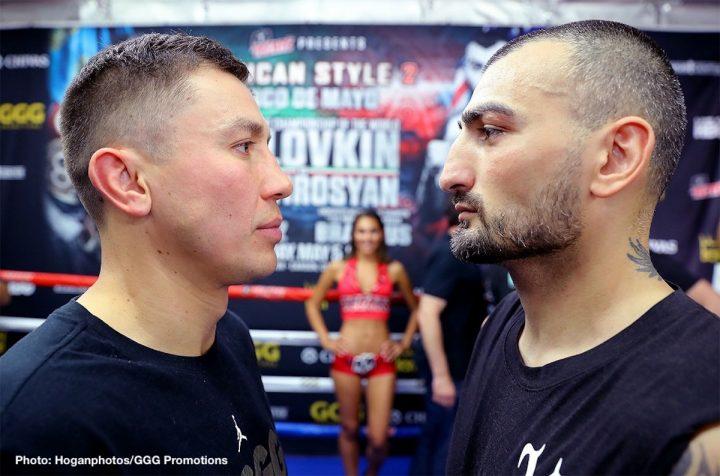 Gennady Golovkin Vanes Martirosyan Abel Sanchez Golovkin vs. Martirosyan