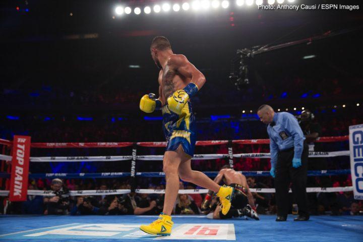 Jorge Linares Vasyl Lomachenko Bob Arum Lomachenko vs. Linares Ray Beltran top rank
