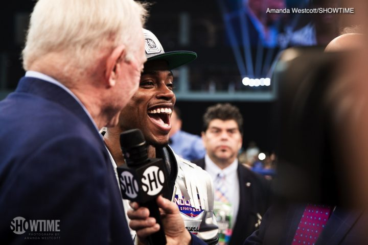 Errol Spence Jr Mikey Garcia AT&T Stadium Jerry Jones Spence vs. Garcia
