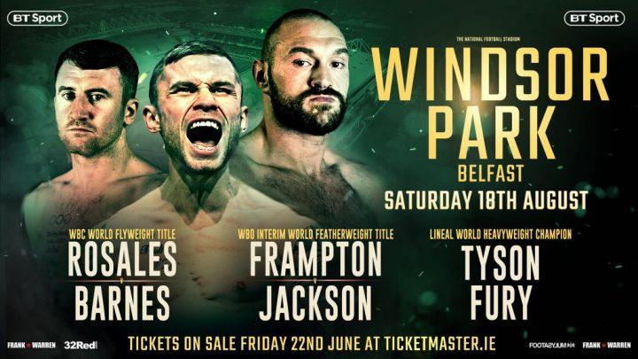 - Latest Carl Frampton Tyson Fury Frampton vs. Jackson Luke Jackson