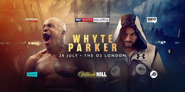 Joseph Parker Brandon Cook Dillian Whyte Eggington vs. Cook Sam Eggington Whyte vs. Parker