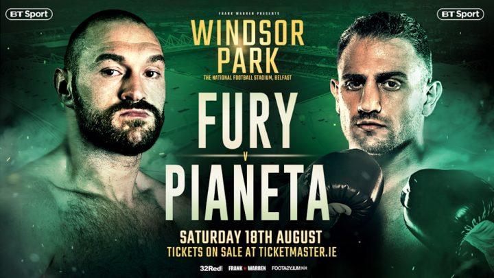- Latest Francesco Pianeta Tyson Fury Fury vs. Pianeta