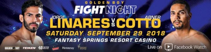 - Latest Jorge Linares Abner Cotto Linares vs. Cotto