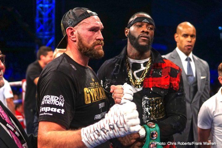 Deontay Wilder Tyson Fury Fury vs. Wilder