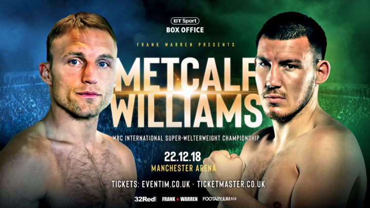 - Latest JJ Metcalf Liam Williams Williams vs. Metcalf