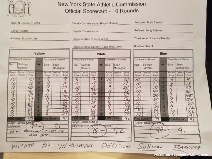 Latest Barrera vs. Monaghan Seanie Monaghan Sullivan Barrera