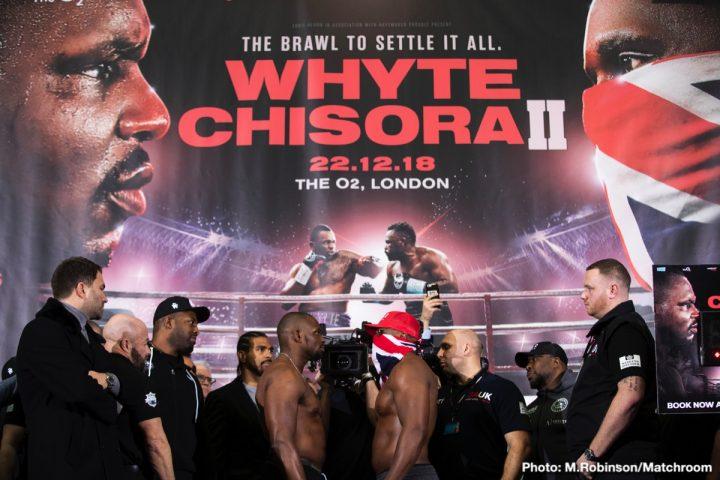 - Latest Derek Chisora Dillian Whyte Whyte vs. Chisora 2