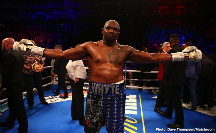 "Anthony Joshua Dillian 'The Body Snatcher' Whyte Eddie Hearn Jarrell ""Big Baby"" Miller Matchroom Boxing"