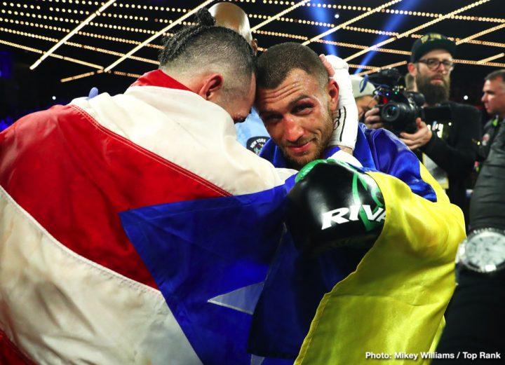 Vasyl Lomachenko Isa Chaniev Jose Pedraza Lomachenko vs. Garcia Richard Commey