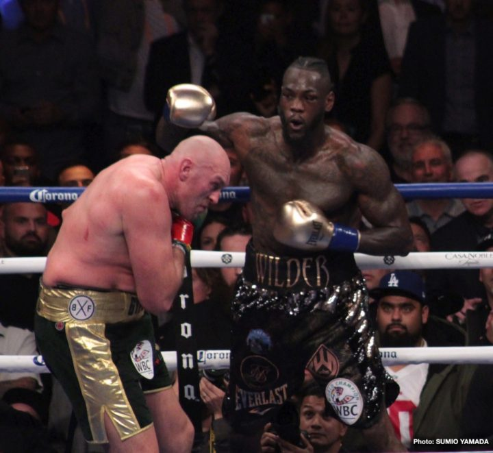 Deontay Wilder Vs. Tyson Fury Heading To U.S Before June
