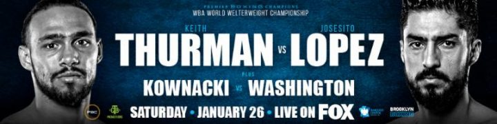 - Latest Josesito Lopez Keith Thurman Miguel Cruz Thurman vs. Lopez
