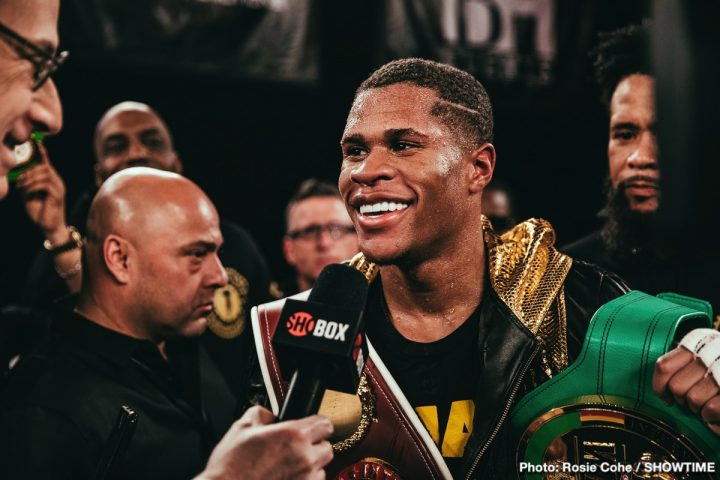 Latest Devin Haney Eddie Hearn Matchroom Boxing