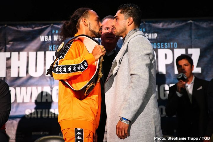 - Latest Danny Garcia Josesito Lopez Keith Thurman Ray Mancini Thurman vs. Lopez