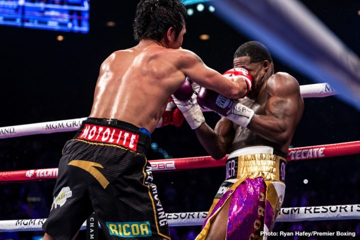Pacquiao vs  Broner final punch stat numbers ⋆ Boxing News 24