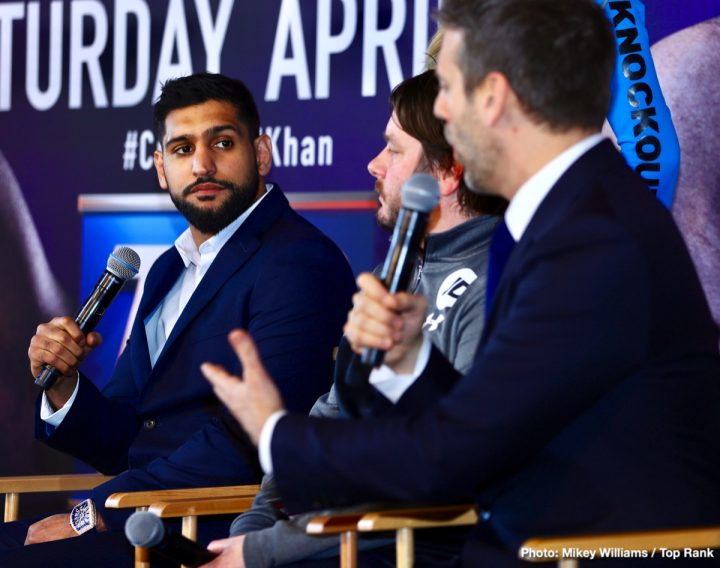 Amir Khan Terence Crawford Crawford vs. Khan Matchroom Boxing Top Rank Boxing