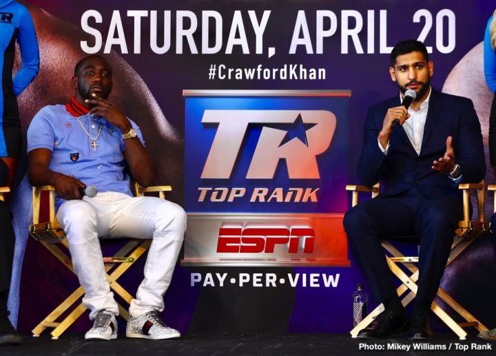 - Latest Amir Khan Terence Crawford Crawford vs. Khan