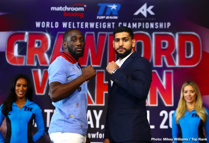 Amir Khan Manny Pacquiao Bob Arum Crawford vs. Khan ESPN PPV Top Rank Boxing