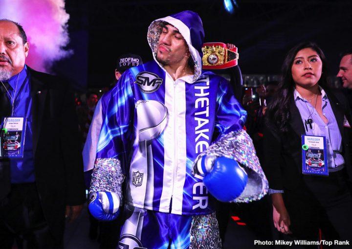 Vasyl Lomachenko Bob Arum Jose Pedraza Teofimo Lopez Top Rank Boxing