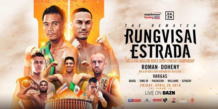 Latest Danny Roman DAZN Juan Francisco Estrada Roman vs. Doheny Rungvisai vs. Estrada II Srisaket Sor Rungvisai TJ Doheny