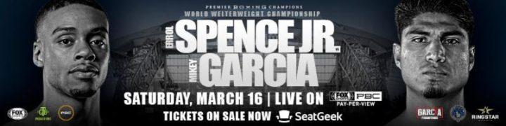 - Latest Errol Spence Jr Mikey Garcia