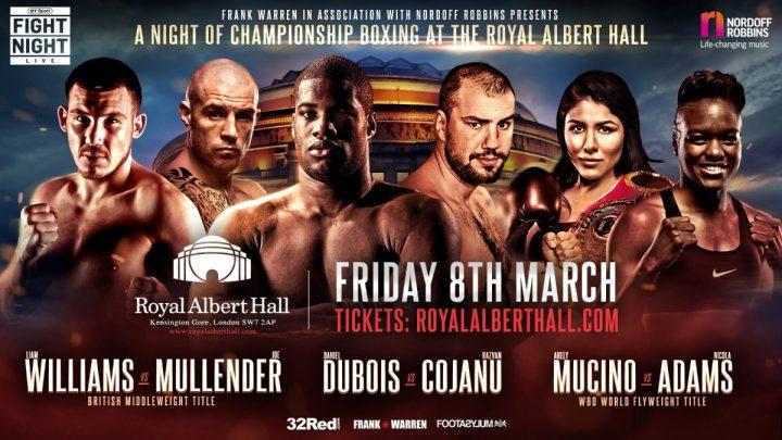 Image result for Williams vs Mullender Live Fight