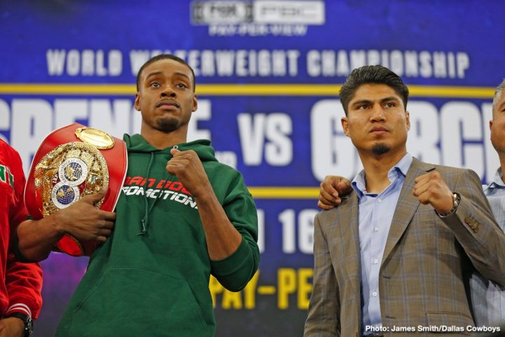 Errol Spence Jr Mikey Garcia Spence vs. Garcia
