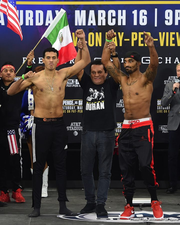 Latest Benavidez vs. Love David Benavidez J'Leon Love