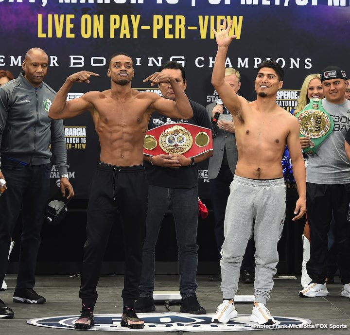 Errol Spence Jr Mikey Garcia FOX Sports PPV Spence vs. Garcia Victor Conte