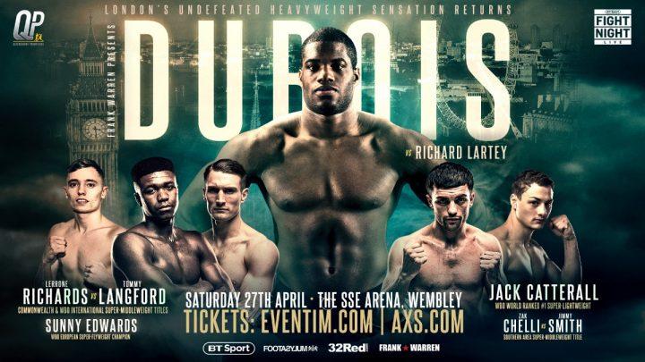 - Latest Daniel Dubois Dubois vs. Lartey Joe Joyce Richard Lartey